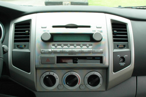 Stock stereo in 2005 Toyota Tacoma