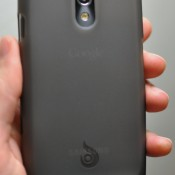 Back of Galaxy Nexus with Diztronic case